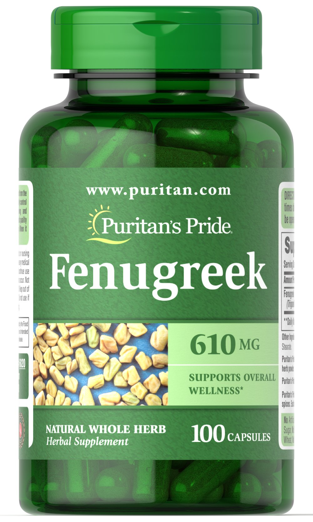 Fenugreek 610 mg  100 Capsules 610 mg $8.99
