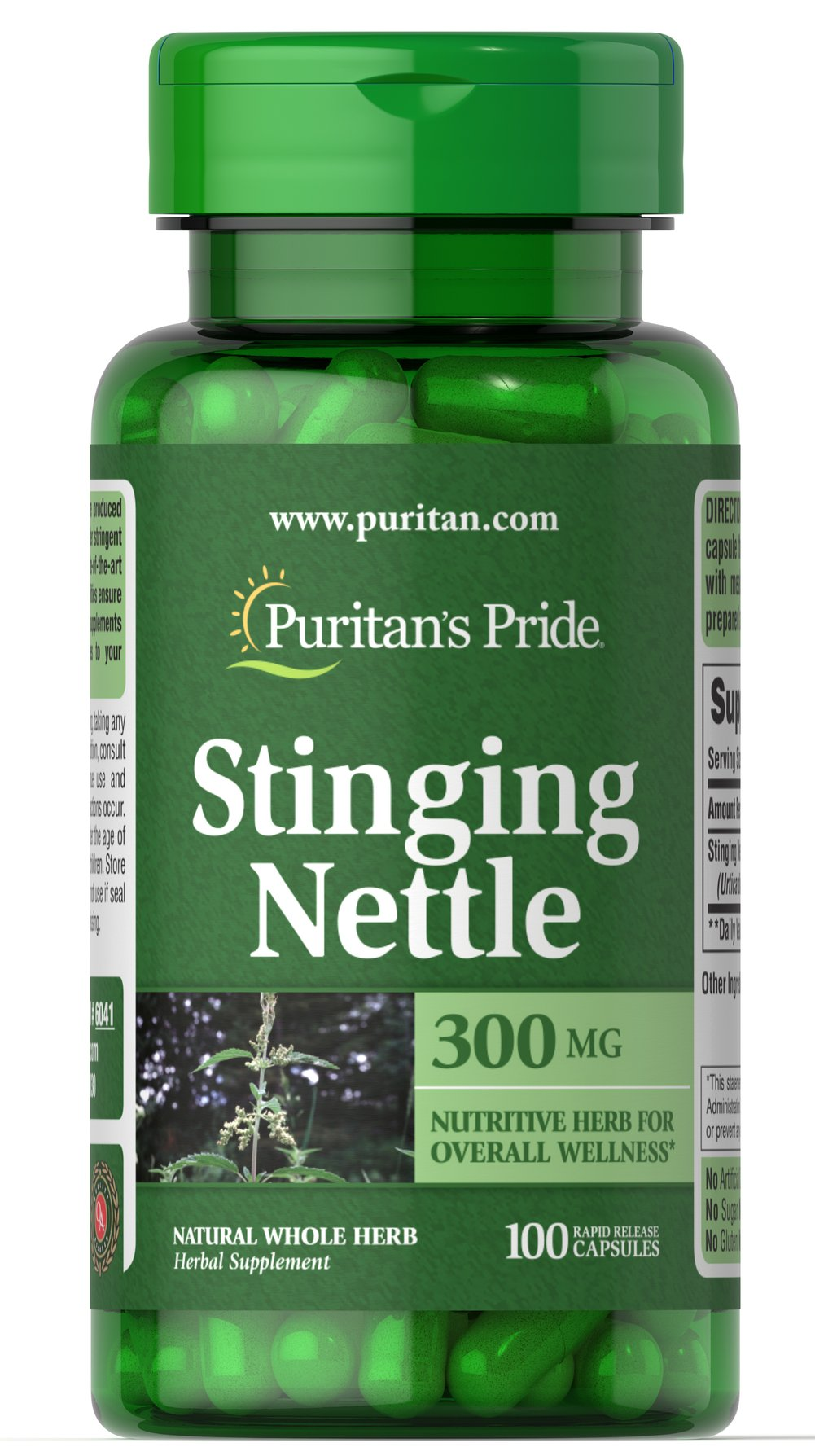 "Stinging Nettle 300 mg <ul><li><span style=""font-family:'Arial','sans-serif';color:windowtext;"">Nutritive herb.</span></li><li><span style=""font-family:'Arial','sans-serif';color:#222222;"">Nettles</span><span style=""font-family:'Arial','sans-serif';color:red;""> </span><span style=""font-family:'Arial','sans-serif';color:windowtext;"""