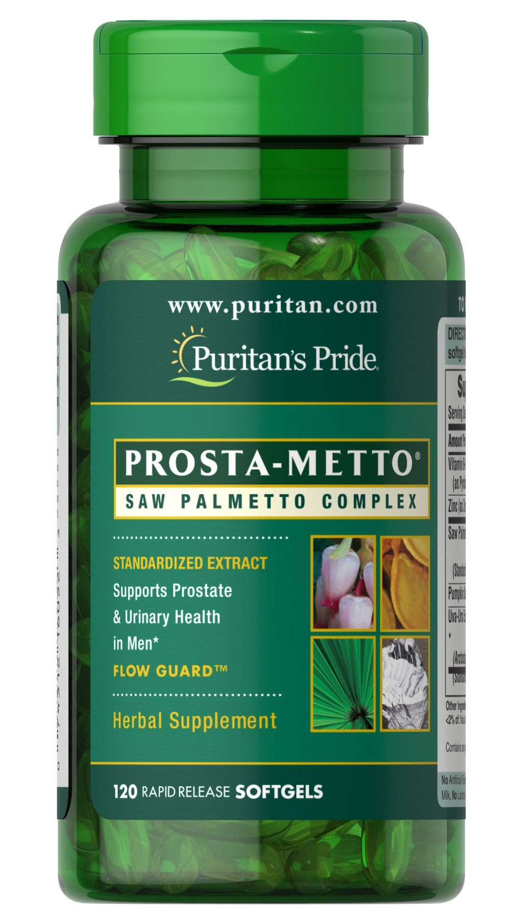 Prosta-Metto® Saw Palmetto Complex For Men <p>Extra Strength Prosta-Metto® softgels deliver 160 mg of standardized Saw Palmetto to support prostate and urinary health in men.** Saw Palmetto is an extract derived from the berry of the Saw Palmetto tree and is the leading herb for men's health.** This formulation also includes Pumpkin Seed Oil and Uva-Ursi, traditional ingredients for men's health, plus Zinc for the immune system.** </p> 120 Softgels  $17.49