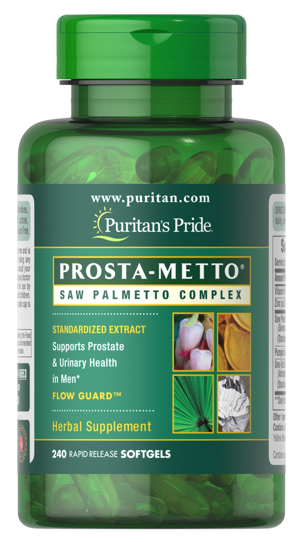 Prosta-Metto® Saw Palmetto Complex For Men <p>Extra Strength Prosta-Metto® softgels deliver 160 mg of standardized Saw Palmetto to support prostate and urinary health in men.** Saw Palmetto is an extract derived from the berry of the Saw Palmetto tree and is the leading herb for men's health.** This formulation also includes Pumpkin Seed Oil, Pygeum and Uva-Ursi, traditional ingredients for men's health, plus Zinc for the immune system.** </p>  240 Softgels  $46.99