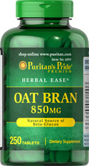 Oat Bran 850 mg  250 Tablets 850 mg $12.79