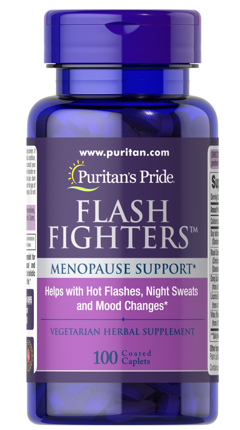 Flash Fighters™ <p>A combination of ingredients including Black Cohosh, Calcium, Soy, and more to help support the health of women during menopausal changes**</p> 100 Caplets  $24.69