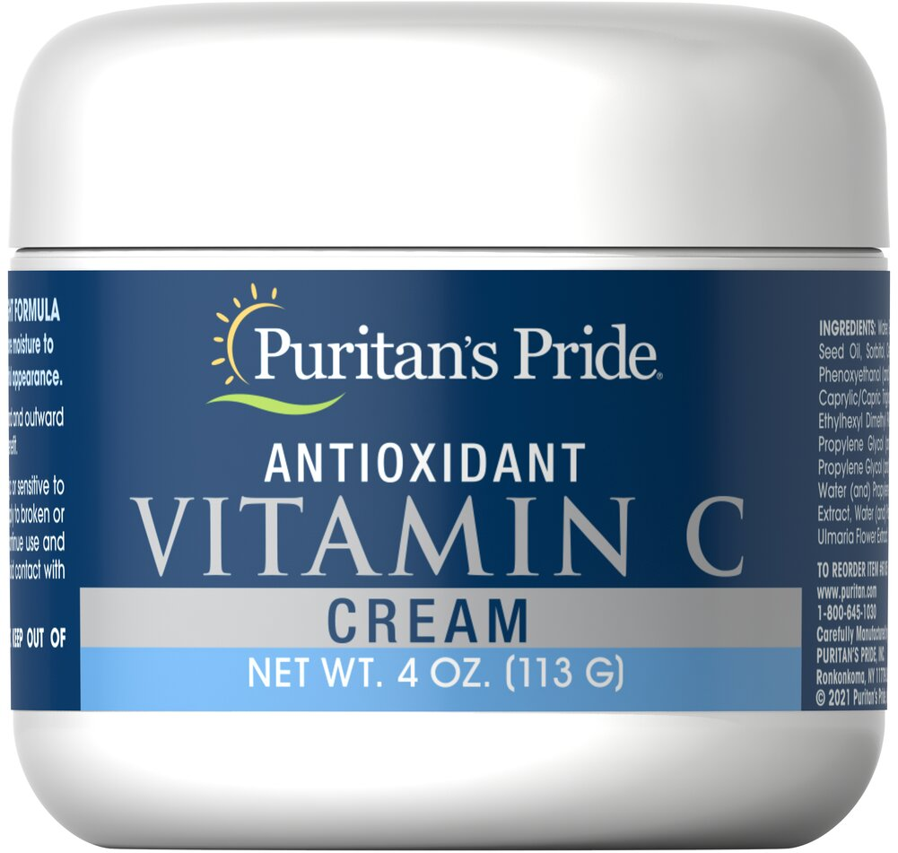 Antioxidant Vitamin C Cream <p>Help Guard Against Free Radical Damage</p><p>This hydrating cream is enriched with antioxidant nutrients to give your skin that youthful glow no matter what your age.  Apply lightly to face and throat at bedtime.</p> 4 oz Cream  $10.19