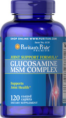 Glucosamine MSM Complex 500mg/333 mg <p>Our Glucosamine MSM Complex is an excellent choice for anyone seeking a well-rounded formula containing two distinct joint support ingredients.** Three caplets provide Glucosamine Sulfate (1000 mg), MSM (1500 mg), Vitamin C (60 mg), Manganese (2 mg) and White Willow (50 mg)</p><p>WARNING: Do not consume product if you have an allergy to shellfish.</p><p>Individual Results May Vary.</p><p></p> 120 Caplets  $19