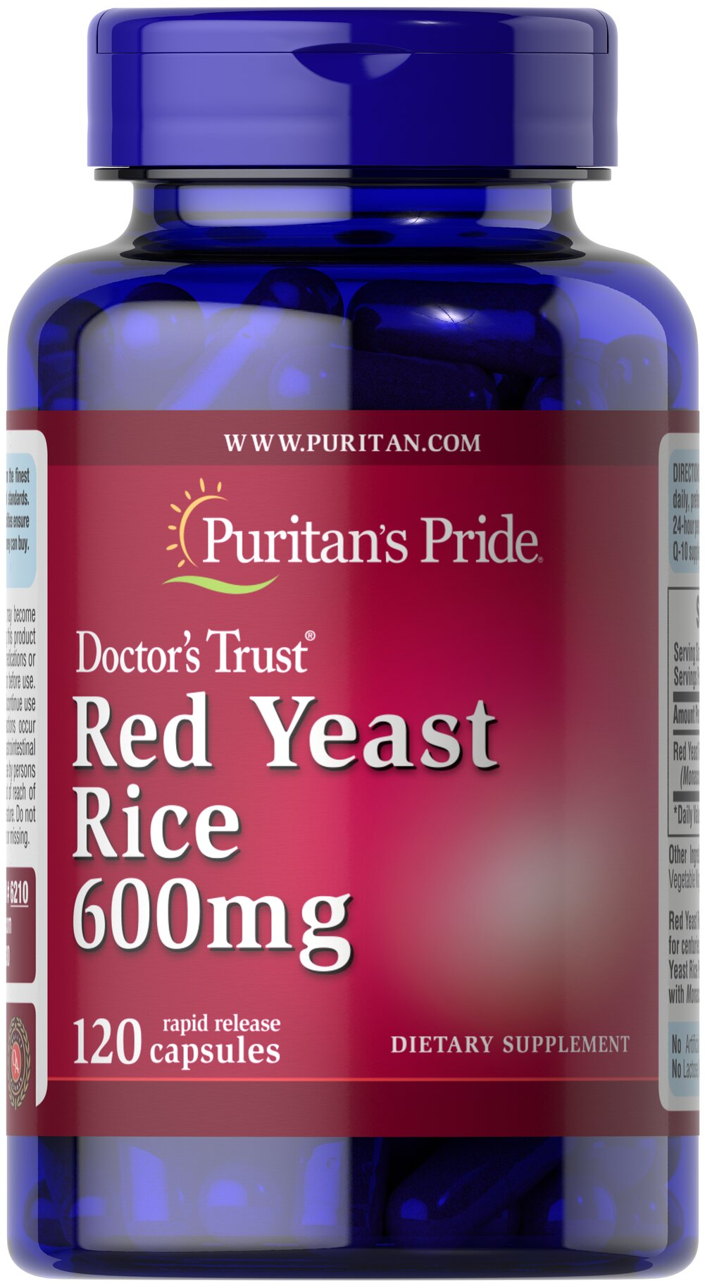 Red Yeast Rice 600 mg  120 Capsules 600 mg $18.99