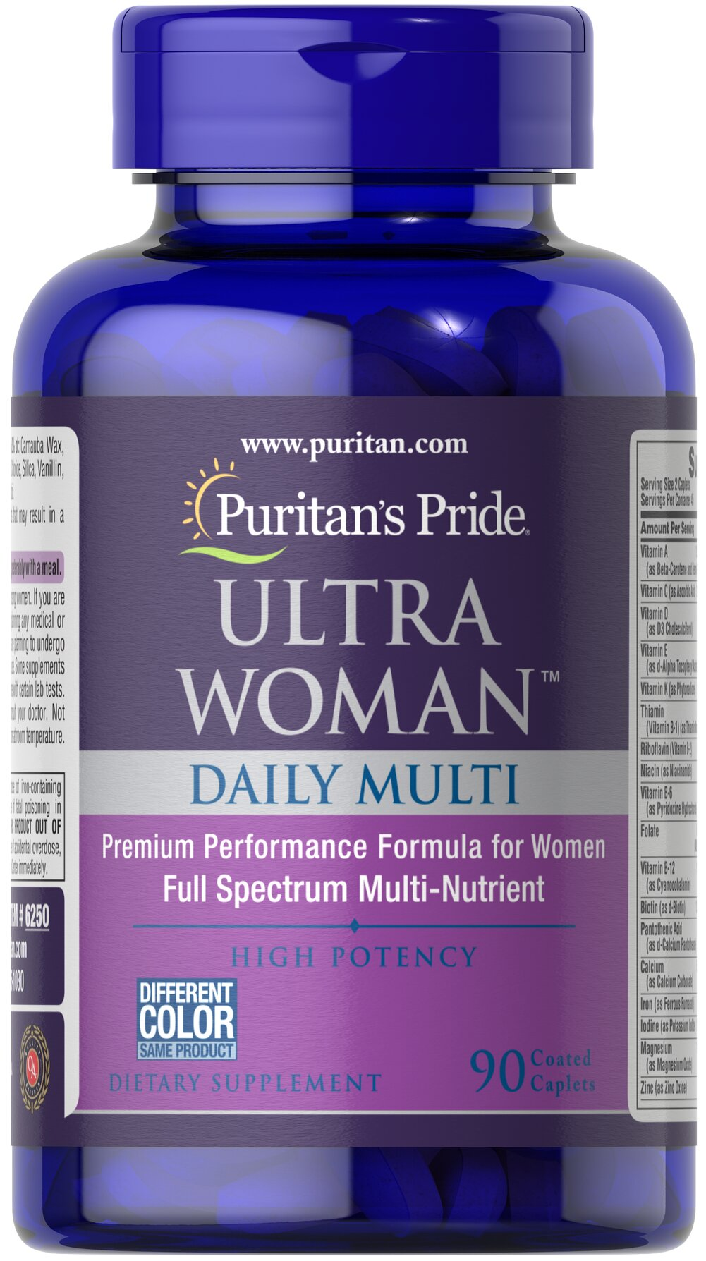 Ultra Woman™ Daily Multi Timed Release <p>Supports Energy Metabolism**</p><p></p><p>Ultra Woman™ Daily Multi is a multivitamin formula that provides key ingredients such as Calcium,  Iron, Folic Acid and B-6 for the special needs of women.** Specially formulated to provide a gradual release of vitamins over a prolonged period of time.</p> 90 Caplets  $20.79