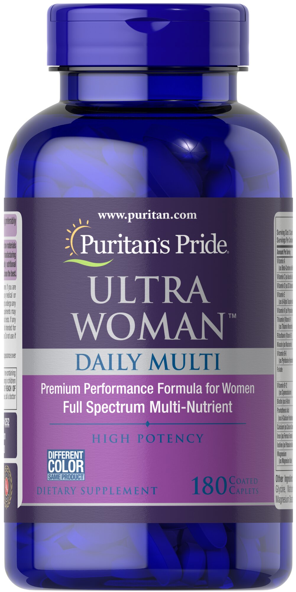 Ultra Women™ Daily Multi Timed Release <p>Supports Energy Metabolism**</p><p></p><p>Ultra Woman™ Daily Multi is a multivitamin formula that provides key ingredients such as Calcium,  Iron, Folic Acid and B-6 for the special needs of women.** Specially formulated to provide a gradual release of vitamins over a prolonged period of time.</p> 180 Caplets  $49.99
