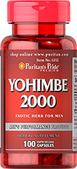 Yohimbe 2000 mg <p>Supports Male Sexual Health*</p><p>2000 mg 4:1 Extract</p><p>Discover the exotic flavor of the African jungle with Yohimbe Bark. Derived from an African evergreen tree, Yohimbe was used by warriors preparing for battle and young males as part of their marriage ritual. The sensual properties of this mystical extract stimulate the animal prowess in every man. Yohimbe Bark is perfect for those long romantic nights of passion.</p> 100 Capsules 2