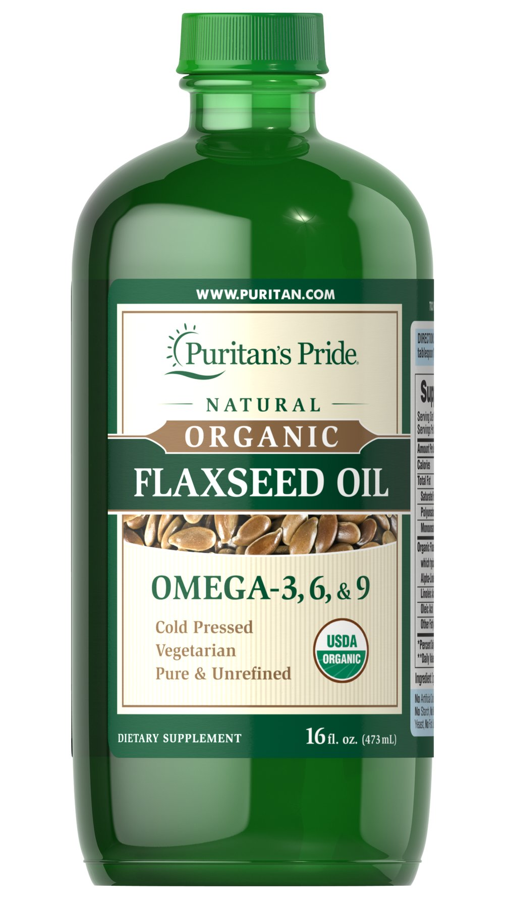 Organic Flaxseed Oil <p>Only a handful of natural sources contain the important <strong>Omega-3, -6 and -9 fatty acids</strong> your body needs for heart, metabolic and cellular health.**</p><p>Our Flaxseed Oil is derived from the seeds of the Flax plant and is a terrific plant source of these important polyunsaturated fatty acids. To ensure the highest possible quality, flaxseeds are processed in a climate- and light-controlled atmosphere. They are pressed at very