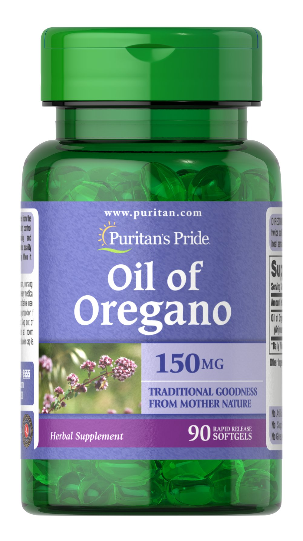 "Oil of Oregano Extract 1500 mg <p>Oil of Oregano equivalent to 1500 mg fresh oregano</p><p>Oil of Oregano has been held in high regard for its holistic qualities. It contains a number of valuable constituents and includes naturally occurring antioxidant phytochemicals.** Our high-quality softgels make it easy to obtain ""traditional goodness from Mother Nature."" </p>   90 Softgels 1500 mg $8.99"