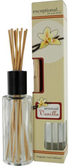 Vanilla Sensual Reed Diffuser The convenient way to fill your home with a sensual scent.  To Use:  Remove wooden lid and bottle cap.  Replace the wooden lid and insert reeds.  The reeds will draw and diffuse the fragrance within 24-36 hours.  Caution:  Keep out of reach of children and pets.  For external use only. 1 Set Box