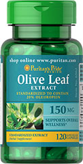Olive Leaf Standardized Extract 150 mg <p>Our Olive Leaf Extract is derived from the leaves of the Mediterranean olive tree. This extract is standardized for 20% Oleuropein, a powerful phytonutrient. Olive leaves have been used for overall well-being for thousands of years by people in countries bordering the Mediterranean.</p> 120 Capsules 150 mg $5.24