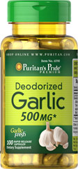 Deodorized Garlic 500 mg <p>Substantially promotes the health of your heart and cardiovascular system**</p><p>Helps maintain healthy blood flow**</p><p>Supports antioxidant health**</p><p> Garlic helps helps to maintain cholesterol levels that are already within the normal range.** Our specialized cold processing method preserves all of the natural goodness while reducing the odor</p>.  100 Capsules 500 mg $10.79