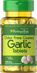 Odor Free Garlic <p>Supports heart health by helping to maintain healthy blood flow**</p><p>Promotes healthy cholesterol levels**</p><p>Possesses powerful antioxidant properties**</p><p>Get the complete benefits of garlic without the offensive odor or taste with Gar-Tabs®.  Each of our 100 mg coated garlic tablets contains all the natural goodness, including virtually all the allicin, of 500 mg of fresh raw garlic. </p>  200 Tablets  $20.59