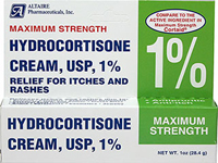 Hydrocortisone 1% Cream <p><strong>From Product Label:</strong><br /></p><p>Antipruritic</p><p>Anti-itch</p><p>Relieves itches and rashes due to:</p><p>Eczema, Psoriasis, Seborrheic Dermatitis, and Insect Bites</p><p>Soaps, Poison Ivy, Oak, and Sumac</p><p>Detergents, Jewelry, and External Anal Itching</p><p>Compare to the active ingredient in Maximum Strength Cortaid®.</p> 1 oz