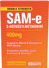 SAM-e 400 mg <p>Science has been looking into this remarkable supplement and time after time clinical studies have drawn the same conclusions, SAM-e:</p><p>Promotes healthy joint function and comfort**</p><p>Boosts mood and emotional well-being**</p> 60 Caplets 400 mg $75.19