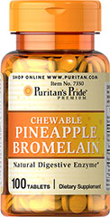 Pineapple Bromelain Chewables <p>Two tablets contain 80 mg bromelain combined with the natural goodness of papain from papaya. Experience the exotic flavor and nutritional benefits of these fine Pineapple Bromelain tablets today.</p> 100 Tablets 40 mg $4.99