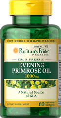 Evening Primrose Oil 1000 mg with GLA  60 Softgels 1000 mg $15.99