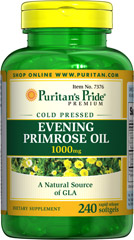 Evening Primrose Oil 1000 mg with GLA <p>For centuries, EPO has been used to provide nutritional support for women with premenstrual syndrome (PMS); it may also play a role in promoting smooth, healthy-looking skin.**</p><p>These easy-to-swallow softgels are a natural source of GLA (Gamma Linolenic Acid). Our EPO contains one of the most biologically active forms of this Omega-6 fatty acid available today.</p>  240 Softgels 1000 mg $48.99