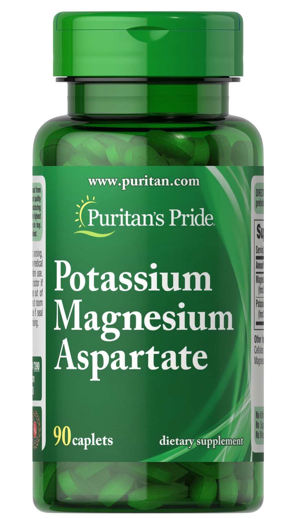 Potassium Magnesium Aspartate <p>Each tablet contains (250 mg) potassium aspartate equivalent to (50 mg) elemental potassium and (250 mg) magnesium aspartate equivalent to (50 mg) elemental magnesium.</p> 90 Caplets 50 mg $11.99