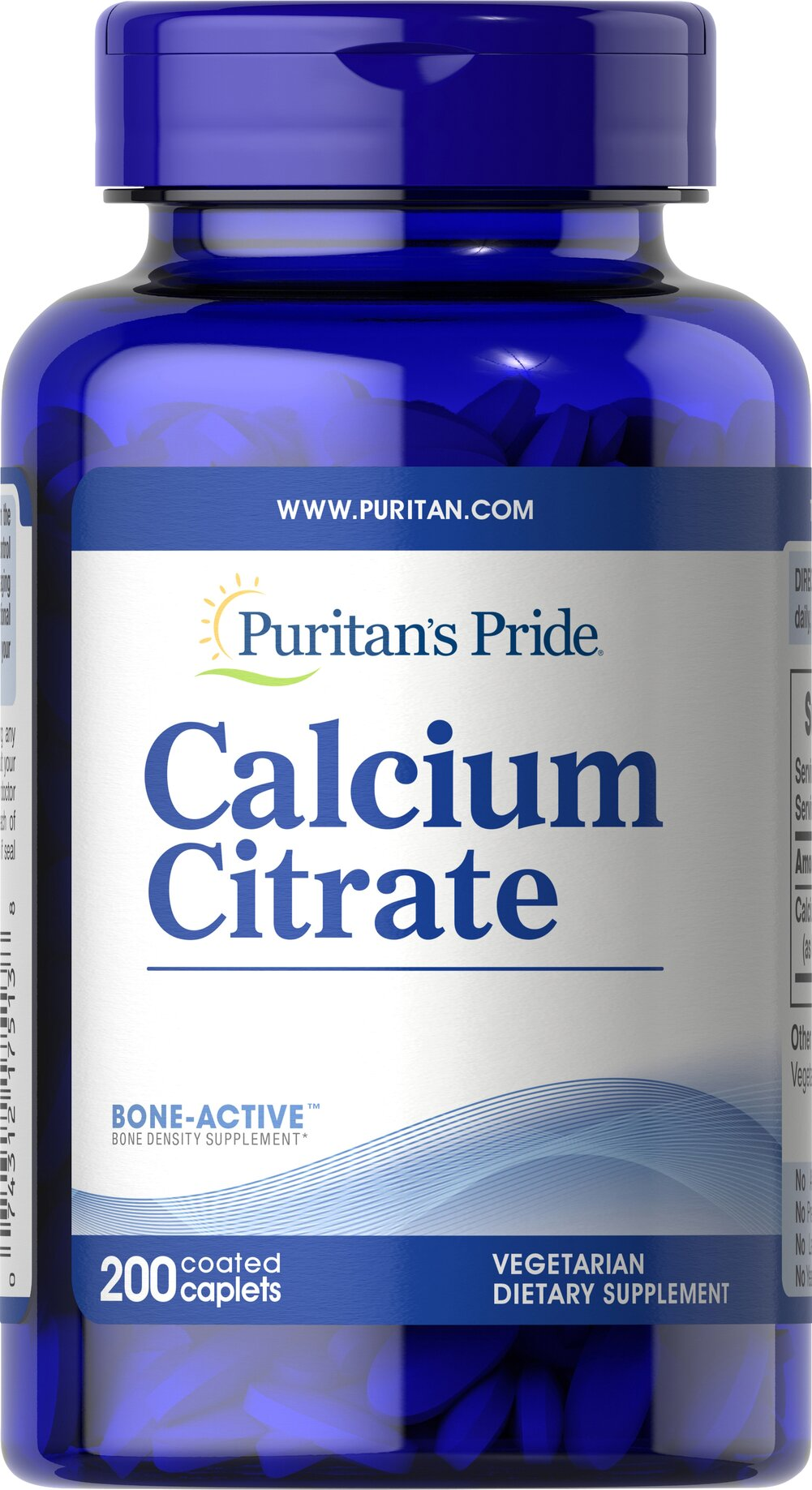 Calcium Citrate 200 mg <p>Bone health can be dependent on many factors including heredity, diet, exercise and lifestyle. Because the body cannot produce Calcium, a balanced diet, regular exercise, healthy lifestyle choices and adequate intake of Calcium can play a role in maintaining bone health.** The body also uses Calcium for proper muscle contraction and nerve function.**</p>  200 Caplets 200 mg $18.99