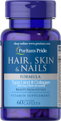 Hair, Skin & Nails Formula <p>A wide array of vitamins, minerals and herbal extracts including Niacin and Biotin that support the health and beauty of your hair, skin and nails**</p> 60 Caplets  $8.74