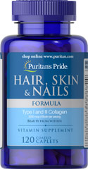 Hair, Skin & Nails Formula <p>A wide array of vitamins, minerals and herbal extracts including Niacin and Biotin that support the health and beauty of your hair, skin and nails**</p> 120 Caplets  $4.79