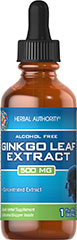 Ginkgo Biloba Liquid Extract 500 mg <p>Supports/promotes memory**</p><p>Ginkgo helps maintain healthy circulation to the brain and legs.**</p> 1 fl oz Liquid 500 mg $10.29