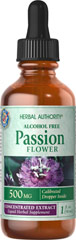 Passion Flower Liquid Extract 500 mg <p>Traditionally enjoyed for its soothing properties**</p><p>This bottle contains 100% pure cold processed Extract made from the finest selected herbs obtainable, in a base of pure vegetable glycerin. It is highly concentrated and gives you more herb power for your money!</p><p>These herbs are extracted using alcohol and water or other natural menstruums to capture active constituents. All alcohol is then removed. </p><p