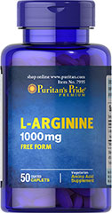 L-Arginine 1000 mg <p>Arginine is one of 20 amino acids, the building blocks of protein.** Arginine can  serve as a source of energy, and is involved in various pathways throughout the body.** Arginine supports the effect of exercise and is one of the most important amino acids involved in immune function.** Adults can take one caplet daily. </p> 50 Tablets 1000 mg $12.99