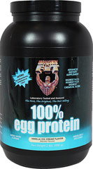 100% Egg Protein Vanilla Ice Cream <p><strong>From the Manufacturer's Label: </strong></p><p>The only 100% Egg Protein with 100% Egg White Protein and 100% Egg White Peptides and Amino Acids.</p><p>Fact- Net protein utilization (N.P.U.) is also a proven scientific method which determines what percentage of the protein we ingest can actually be used for growth. Healthy 'N Fit(R) 100% Egg Protein has a higher N.P.U. than any other protein available