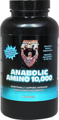 Anabolic Amino 10,000 <p><strong>From the Manufacturer's Label: </strong></p><p>Health 'N Fit Amino Acids is an advanced dietary supplement that nutritionally supports muscle mass and strength. Each serving of Anabolic Amino 10,000 contains 10,000 mcgs of the highest quality peptide bond.<strong></strong></p> 180 Tablets