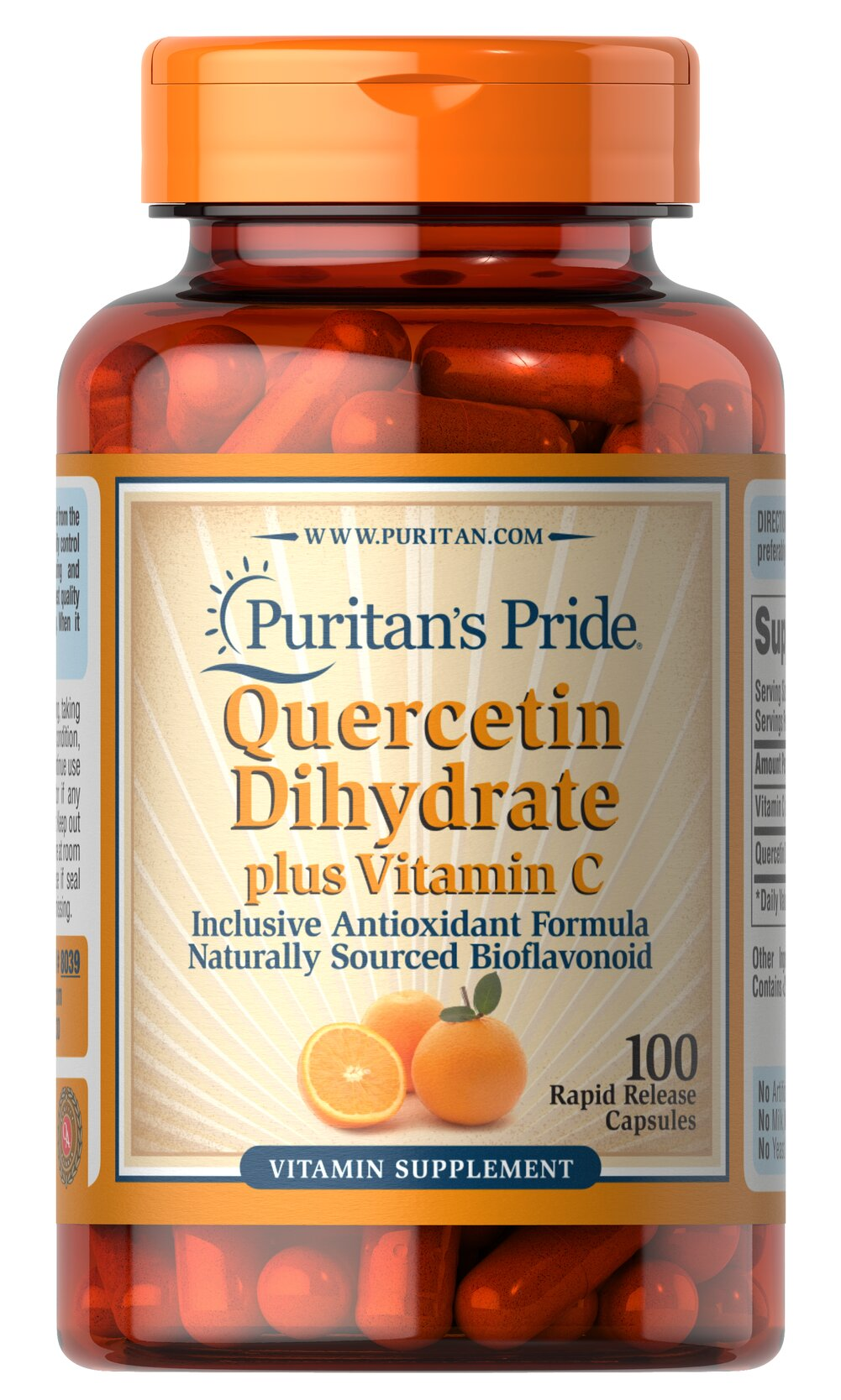 Quercetin Plus Vitamin C 250 mg/700 mg <p>Quercetin is a non-citrus bioflavonoid that possesses  beneficial antioxidant qualities.** For added support, we include Vitamin C, which has many benefits for your immune system, heart, joints and skin.** As an antioxidant, Vitamin C also helps neutralize harmful free radicals in cells.** This product contains 1400 mg Vitamin C (as Ascorbic Acid) and 500 mg Quercetin Dihydrate. Adults can take two tablets daily.</p> 100 Capsules 250 mg/700 m