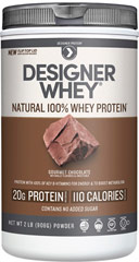Whey Protein Chocolate <p><strong>From the Manufacturer's Label:</strong></p><p>Whey Protein Chocolate is manufactured by Designer Whey.</p><p>Available in Chocolate, Vanilla, Double Chocolate and Vanilla Praline  flavors.</p> 2 lbs Powder  $22.99
