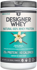 Whey Protein French Vanilla <p><b>From the Manufacturer's Label:</b></p> <p>Whey Protein Chocolate is manufactured by Designer Whey.</p> <p>Available in Chocolate, Vanilla, Double Chocolate and Vanilla Praline  flavors.</p> 2 lbs Powder  $22.99