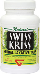 Swiss Kriss® Herbal Laxative <p><b>From the Manufacturer's Label: </p></b><p>Swiss Kriss is an herbal laxative for those with occasional constipation.  Swiss Kriss contains the sun-dried leaves of Senna, plus other traditional herbs such as Hibiscus and Calendula.  Made from all-natural ingredients, Swiss Kriss contains no harsh chemical stimulants.</p>  <p>Manufactured by MODERN.</p>   250 Tablets  $9.52