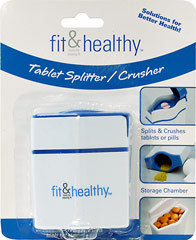 Tablet Splitter / Crusher <p><strong>From the Manufacturer's Label: </strong></p><p>Splits and crushes tablets or pills</p><p>Convenient storage chamber</p> 1 piece Each  $3.99