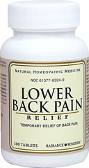 Low Back Pain <p>Made from all-natural ingredients, homeopathic remedies contain no synthetic drugs.</p>       96 Tablets  $5.99