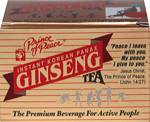 Instant Korean Panax Ginseng Tea <p><strong>From the Manufacturer's Label: </strong></p><p>This Instant Korean Panax Ginseng tea has been carefully selected, processed, and packaged for your convenient use. Enjoy the fresh taste and aroma of this Ginseng tea!<br /></p> 10 Tea Bags  $2.99