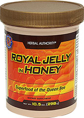 Royal Jelly In Honey <p>Great Tasting and Nutritious</p><p>Royal Jelly is a highly complex substance.  It is completely raw and unprocessed.  Royal Jelly is preserved in a base of natural wild flower honey for delicious flavor and easier absorption.</p> 10.5 oz Liquid  $29.89