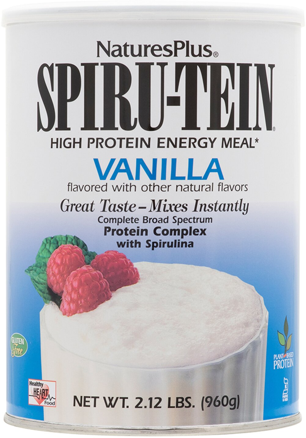 Spiru-Tein Vanilla <p><b>From the Manufacturer's Label: </p></b><p>Rich in flavor and nutrition--that's Spiru-tein! One of life's true pleasures is enjoying a delicious treat you know is good for you in every way. Nature's Plus is especially proud of its entire line of Spiru-tein products. Low in calories, with zero fat, Spiru-tein delivers a healthy infusion of plant-based protein, along with other essential nutrients.</p>  <p>Manufactur