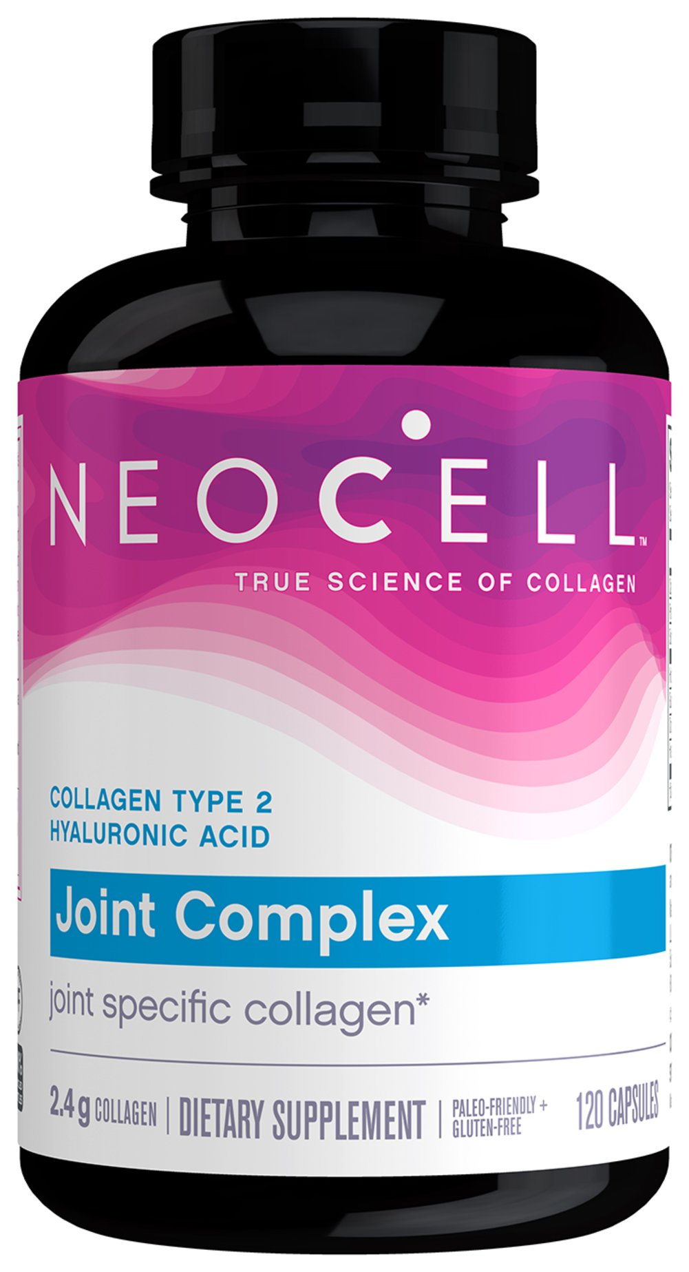 Collagen Type II Joint Complex with Hyaluronic Acid <p><strong>From the Manufacturer's Label:</strong></p><p>Collage Type 2 provides essential nutrients for complete joint support and youthful skin.  As we age, the body's ability to make the protein Collagen Type 2 slows down.  Collagen 2 is the key structural protein in cartilage tissue.  NeoCell Collagen 2 contains glucosamine, chondroitin and hyaluronic acid.  Hyaluronic acid is an important factor for sk