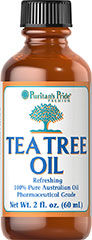 Tea Tree Oil Australian 100% Pure <p>Puritan's Pride Tea Tree Oil stimulates your skin naturally as it cleanses and purifies.</p><p>Puritan's Pride superior grade of Tea Tree Oil is meticulously analyzed to ensure that it exceeds the levels of oil quality of the Australian government… as well as the rigorous quality standards of Puritan's Pride. It's 100% Pharmaceutical Grade.</p><p>Puritan's Pride Tea Tree Oil is…</p><p>- 100% pure Australia