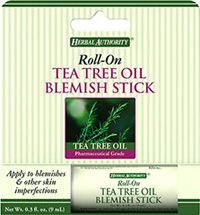Blemish Stick with Tea Tree Oil <p>This Blemish Stick offers you a special combination of witch hazel, natural extracts and Tea Tree Oil in an easy to use, roll-on applicator. Rosemary, Chamomile, Lavender, Thyme, and Calendula were included in this formula because of their traditional use by herbalists in natural skin care. Used regularly, this Blemish Stick with Tea Tree Oil provides a soothing action to help tighten the pores and tone the skin.</p><p>The Australian standards