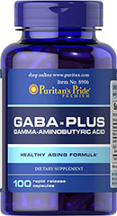 GABA (Gamma Aminobutyric Acid) Complex <p>GABA Complex is made of some of the best ingredients for nervous system and brain health.**</p><p>There is Gamma-Aminobutyric Acid (GABA), which functions as a neurotransmitter in the central nervous system, Inositol, an essential component of cell membranes that plays an important role in cell growth and function, and Niacin, a B-Vitamin that promotes nervous system health and energy metabolism.**</p> 100 Capsules  $17.99