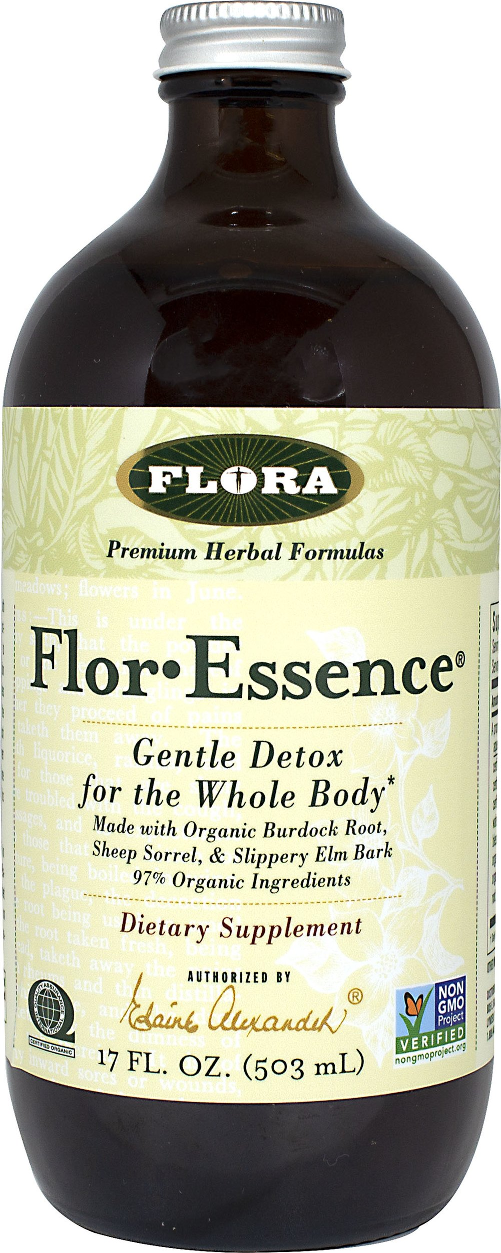 Flor-Essence Liquid <p><strong>From the Manufacturer's Label: </strong></p><p>Flor-Essence is a purification tea that supports the whole body in it's elimination process. The traditional herbal blend is designed to work synergistically as an internal cleanser.</p> 17 fl oz Liquid  $29.19