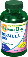 Formula 100 Multivitamins Timed Release <p>FORMULA 100 Tablets contain over 25 nutrients to address key areas of health including, antioxidant health, energy metabolism, cell growth, bone health, protein and fat metabolism, eye health, and nerve function.**</p>  60 Tablets  $19.99