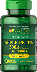 Apple Pectin 500 mg with Vitamin C <p>Apple Pectin is a source of soluble fiber and has the ability to form gel naturally.  Each high quality Apple Pectin tablet contains 500 mg. of apple pectin plus 10 mg. of vitamin C.  The vitamin C synergistically enhances the effectiveness and health benefits of Apple Pectin.</p> 100 Caplets 500 mg $11.99