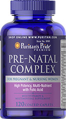 Pre-Natal Complex <p>Pre-Natal Complex is a multivitamin and mineral supplement formulated especially for pregnant and lactating women.  This unique formulation provides 100% of the Daily Value of many vitamins and minerals for pregnant and lactating women. </p> 120 Caplets  $15.99