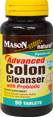 Advanced Colon Cleanser with Probiotic <p><strong>From the Manufacturer:  </strong></p><p>Gently and naturally supports healthy, colon function and cleansing*</p><p>Manufactured by Mason Naturals</p> 90 Tablets  $13.99